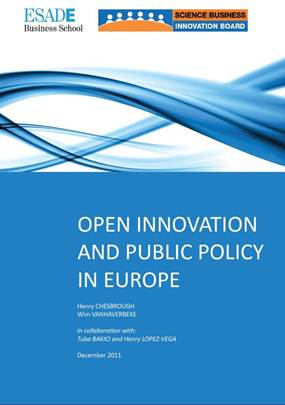 (English) Open Innovation and Public Policies in Europe