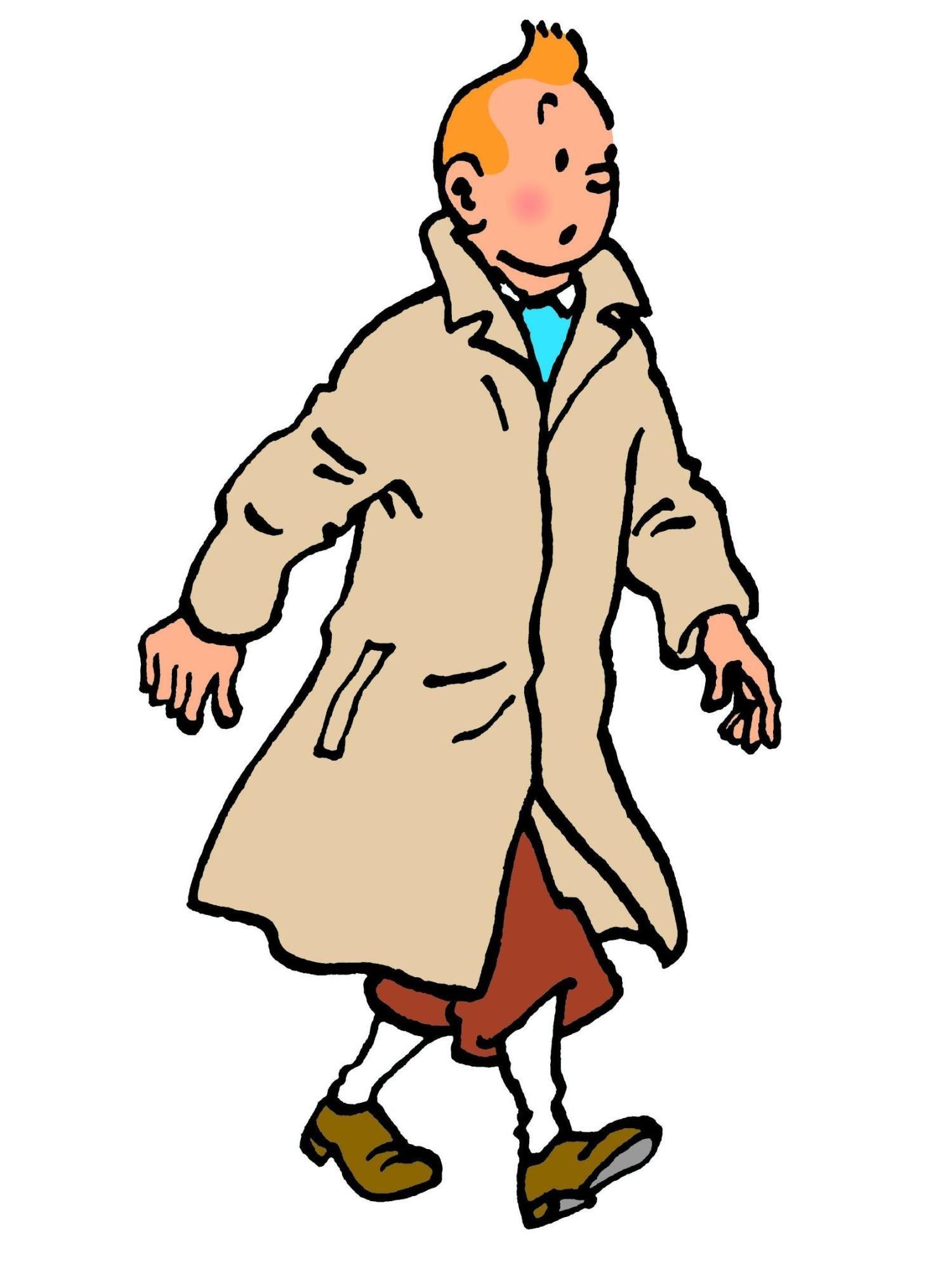 Tintin hero of Herve Arribart - fellow presans