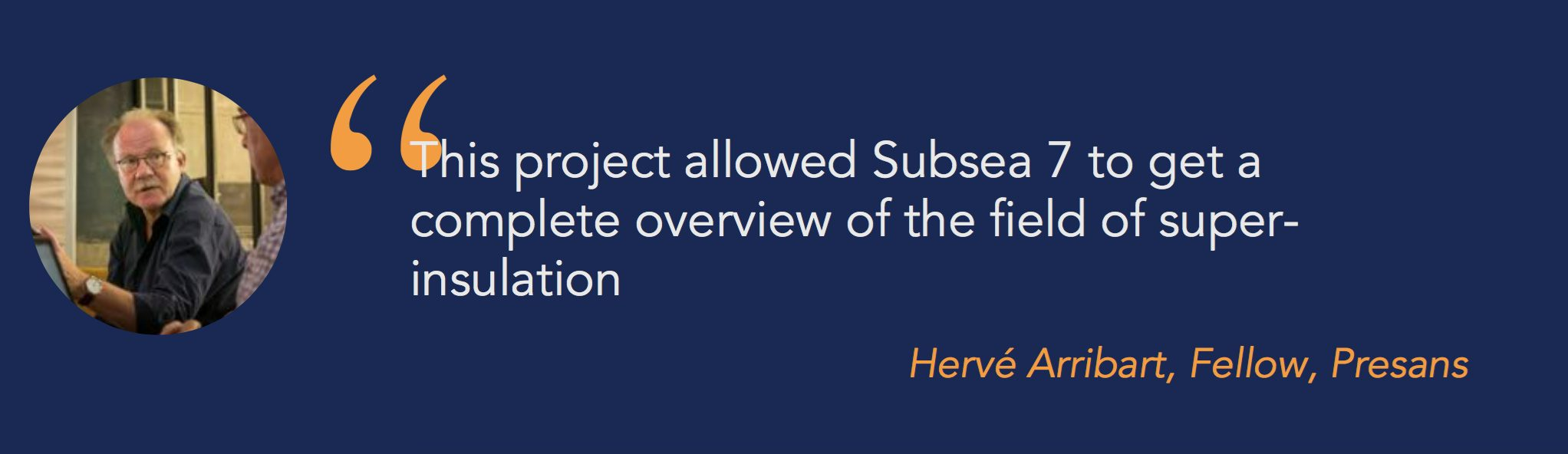 Case study: Subsea7 takes good look at thermal super-insulators