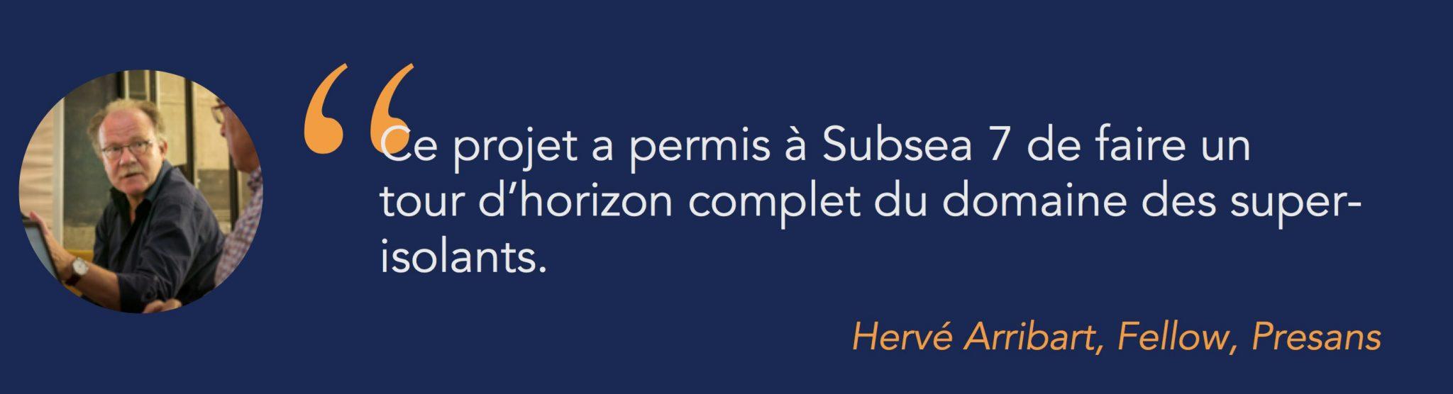 Étude de cas : survol des super-isolants thermiques pour Subsea7